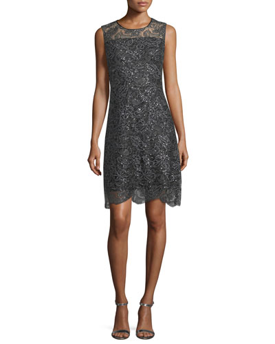 Katrionne Sleeveless Sequin Cocktail Dress
