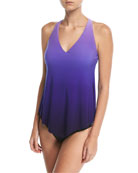 Taylor V-Neck Ombre Tankini Swim Top