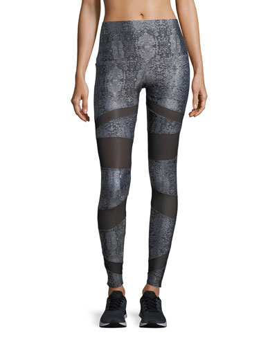 Bondage High-Rise Performance Leggings w/ Mesh