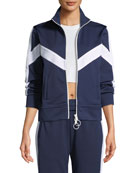 Zip Front Chevron Track Jacket