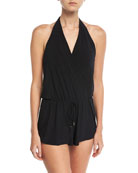 Bianca One-Piece Swim Romper, Plus Size