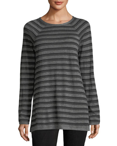 Wool-Blend Striped Tunic