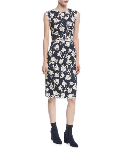 Lillie Scalloped Floral-Print Dress