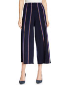 Lined Up Vertical Striped Pants