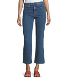 Justine High-Rise Cropped Wide-Leg Jeans