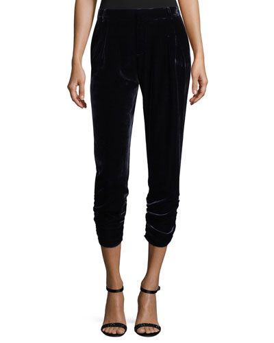 Devlin Cropped Velvet Pants
