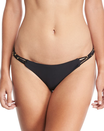 Braided Solid Full Swim Bottom, Midnight