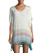 Adriana V-Neck Tassel Tunic Coverup Dress