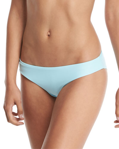 Solid Ruched Swim Bottom