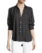 Eileen Button-Front Check Shirt