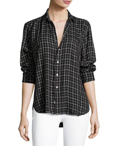 Eileen Button-Front Check Shirt