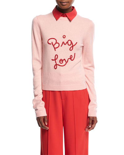 Dia Big Love Collared Stretch-Cashmere Sweater