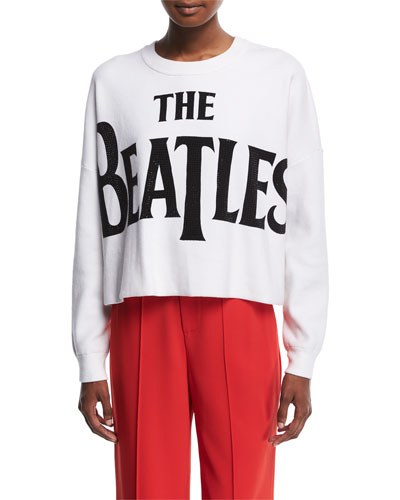 Quintin Cropped Boxy Pullover with Stones