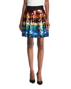 Blaise Embellished Trapeze Skirt