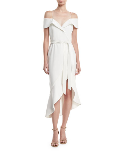 Josie Off-Shoulder Ruffle Wrap Dress