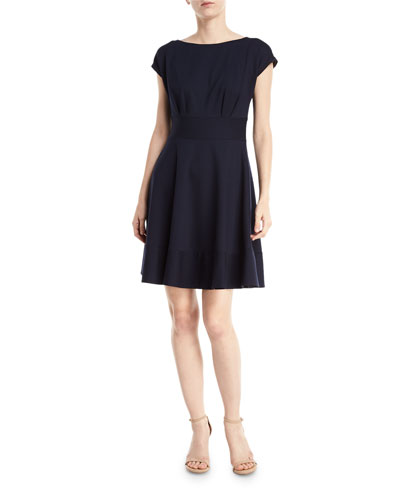 fiorella ponte short-sleeve day dress
