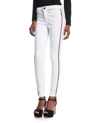 Ava Skinny Jeans w/ Racing Stripes