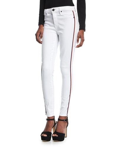 Ava Skinny Jeans w/ Racing Stripes