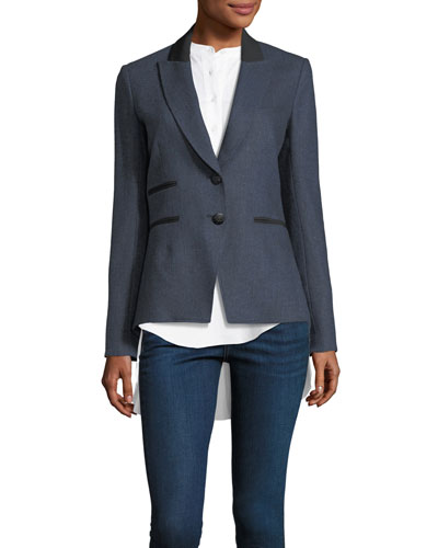 Hudson Two-Button Herringbone Jacket