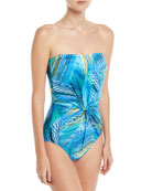 Tourmaline Bandeau One-Piece Swimsuit