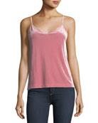 Amber V-Neck Velvet Camisole Top