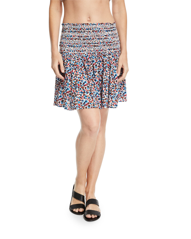 Wildflower Smocked Coverup Beach Skirt