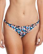 Prism-Printed Hipster Swim Bikini Bottoms