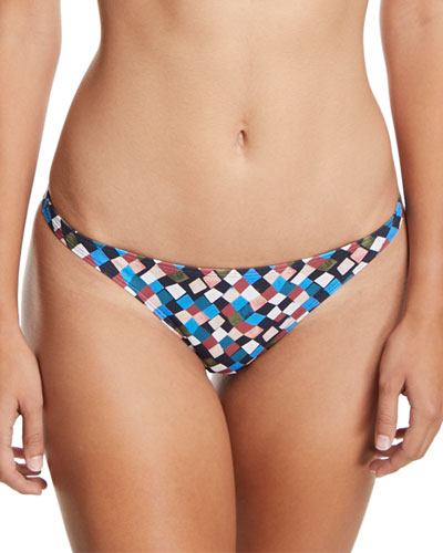 Prism-Printed Hipster Swim Bottoms