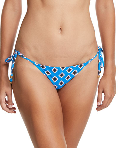 Jacinta Printed Side-Tie Swim Bottoms