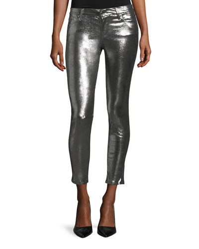Prince Metallic Leather Ankle Pants