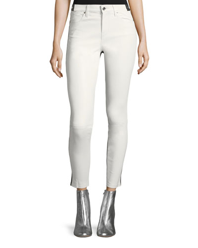Gypsy 2-Tone Skinny-Leg Leather Pants