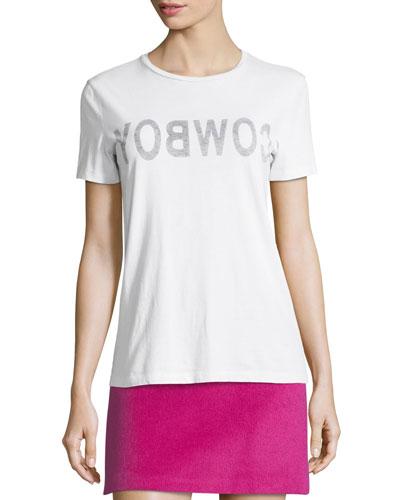 Helmut Lang Re-Edition Cowboy Crewneck Short-Sleeve Slim T-Shirt