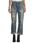 Helmut Lang Re-Edition Painter Bootcut Boyfriend Jeans
