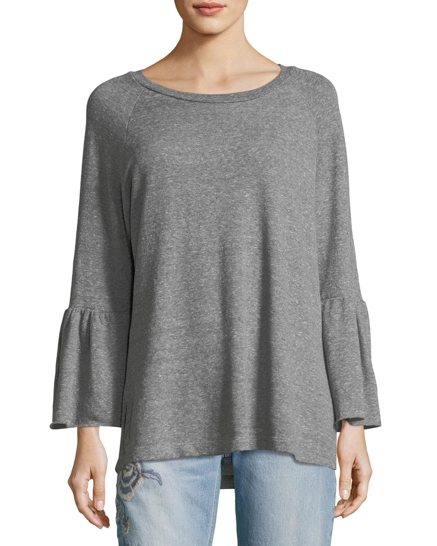 The Ruffle-Sleeve Sweatshirt