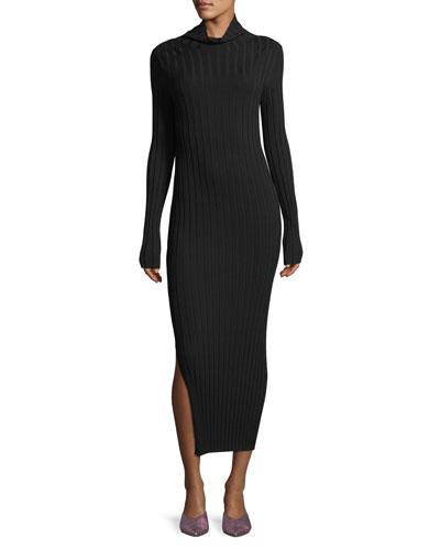 Prosecco Mock-Neck Knit Dress