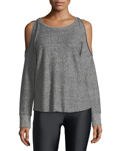 Reverse Cutout Pullover Fleece Top