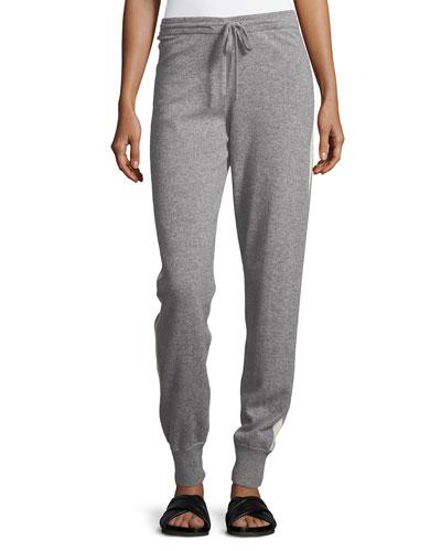 Cashmere Athletic-Stripe Lounge Pants