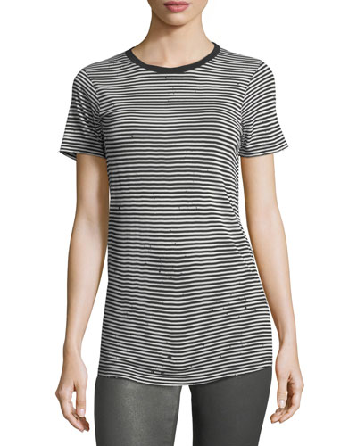 Striped Crewneck Short-Sleeve Boy Tee