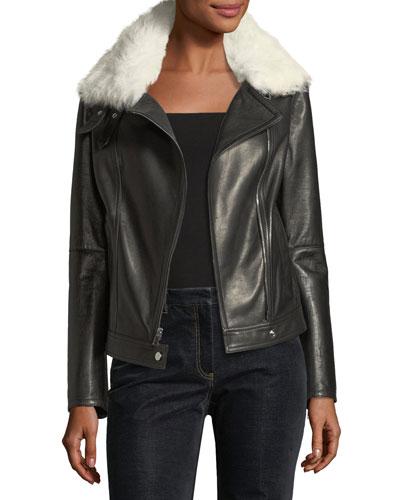 Pomono B Wilmore Bonded Lamb Leather Coat