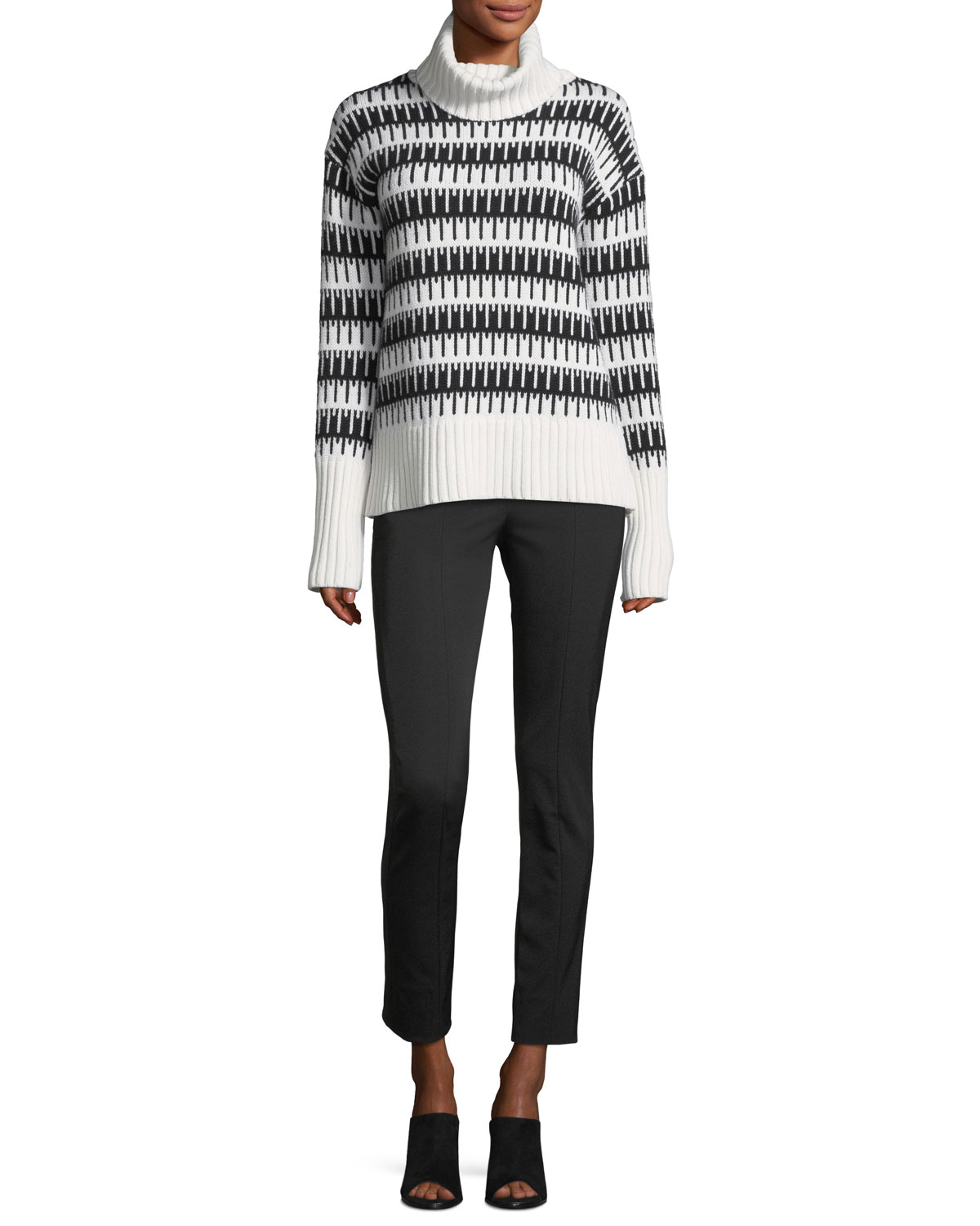 Wyndora J. Charmant Wool-Cashmere Sweater