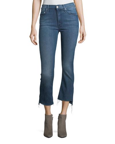 Insider Crop Step-Fray Denim Jeans, Crack the Whip