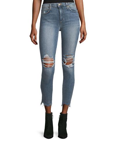 The Charlie High-Waist Skinny-Leg Ankle Jeans