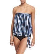 Blue Horizon Bandini Swim Top, Plus Size