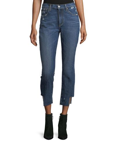 Gemma Mid-Rise Straight-Leg Crop Jeans