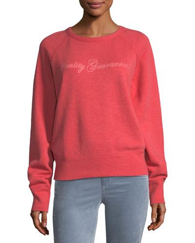 The Raglan QG Chain-Stitch Cotton Sweatshirt