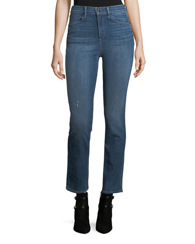 High-Rise Slim-Fit Cigarette Jeans