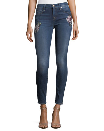The Skinny Jeans w/ Needlepoint Patches