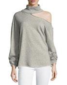 Langley Turtleneck Cotton Sweatshirt