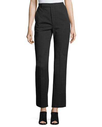 Wide-Leg Wool Suiting Pants