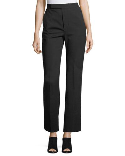 Wide-Leg Wool Suiting Pants